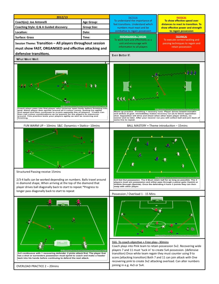 Barnet FC - Transition Ex's and Games