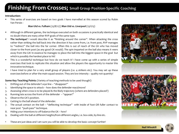 Finishing from Crosses Overview (RVP) - Neil Winskill