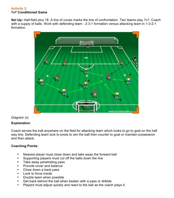 Pressing to Win Possession pt3