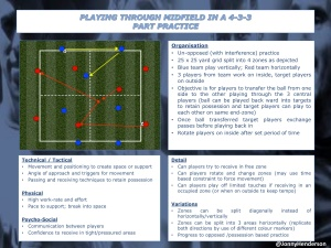 PT2-Playing through Midfield in a 4-3-3