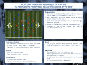 PT4-Playing through Midfield in a 4-3-3