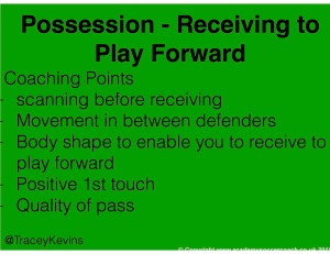 Possession - receiving to play forward -2
